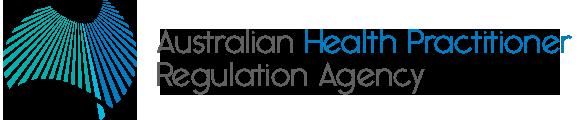 Logo for the Australian Health Practitioner Regulation Agency